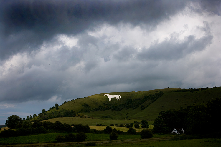White Horse of Chalk : Wiltshire: England UK