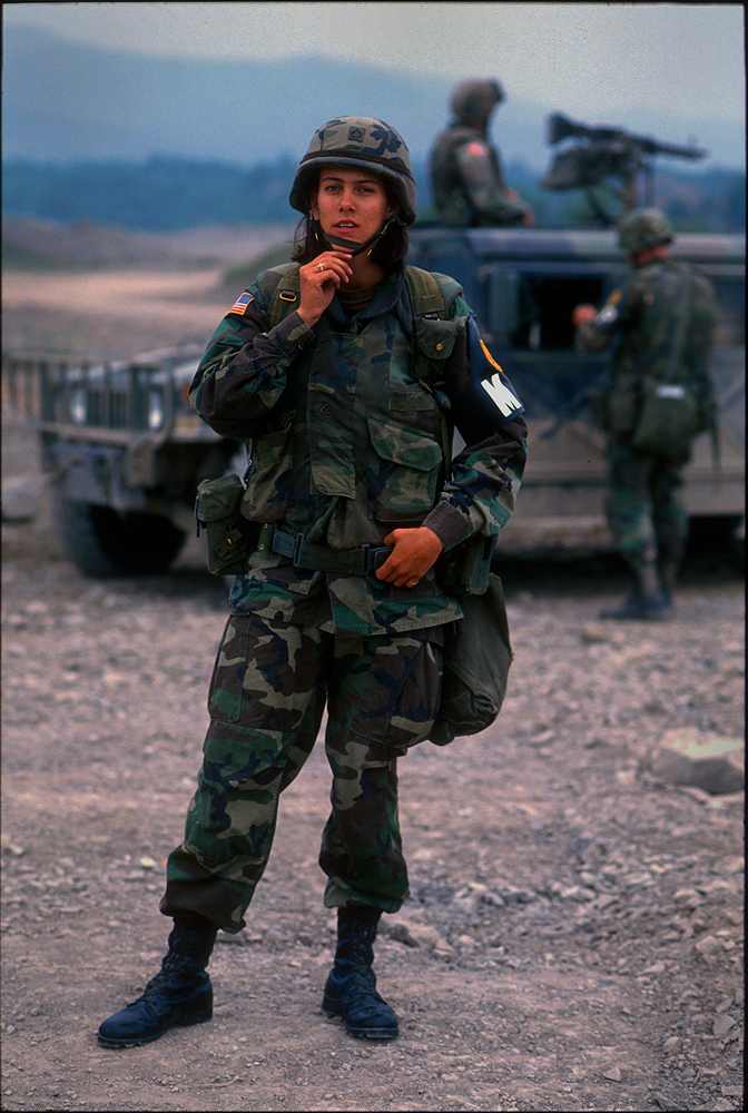 US Peace Keepers in Bosnia : Sarajevo : 1996