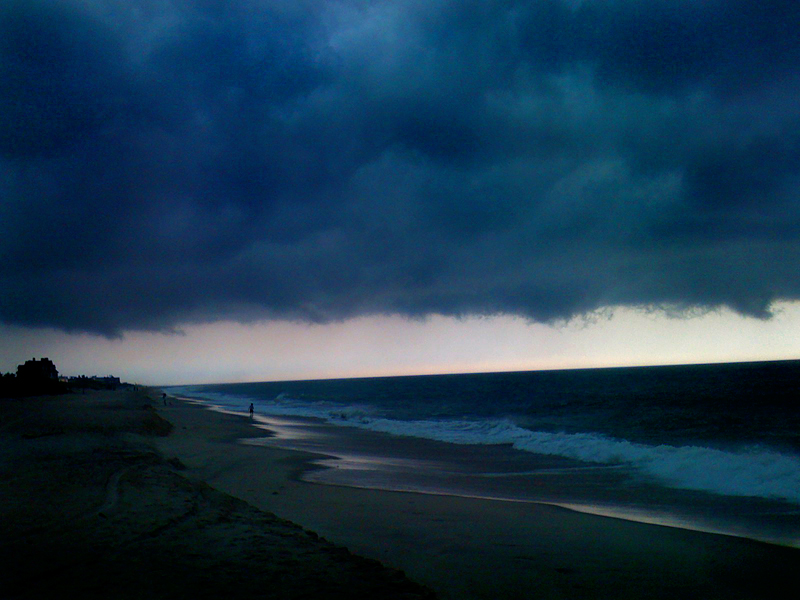 Hamptons Storm on iphone : South Hampton Beach : NY
