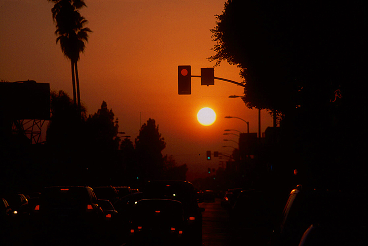 Traffic Sunset : LA : USA