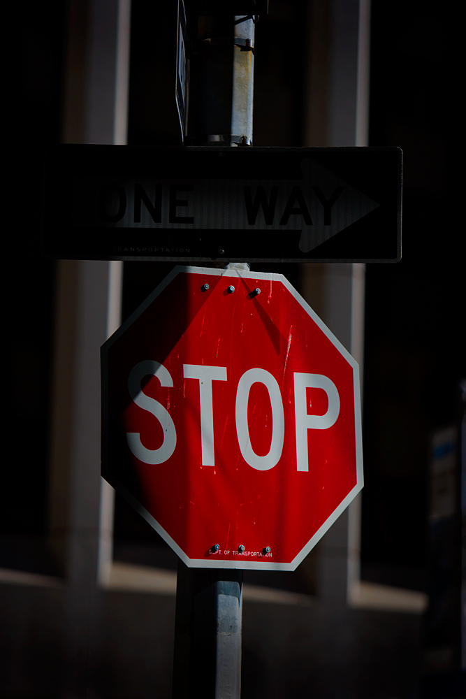 Wall Street Stop Sign : Wall St : NYC
