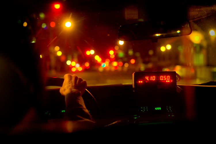 Taxi Home : Soho : NYC
