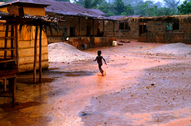 Playing in the rain - Ghana
