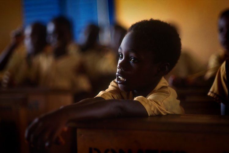 Boy in Village School : Encomfi Attackwa - Rain Forrest : Ghana - Africa