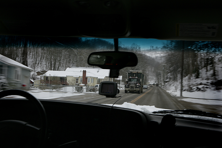 Truck in the Mountains : Charlston Area  : West Virginia