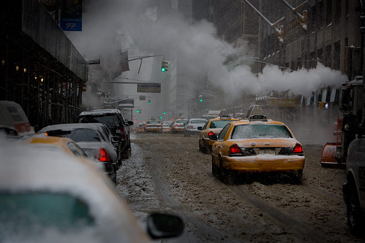 Winter Storm in the City : Lexington Av & 53rd St : NYC