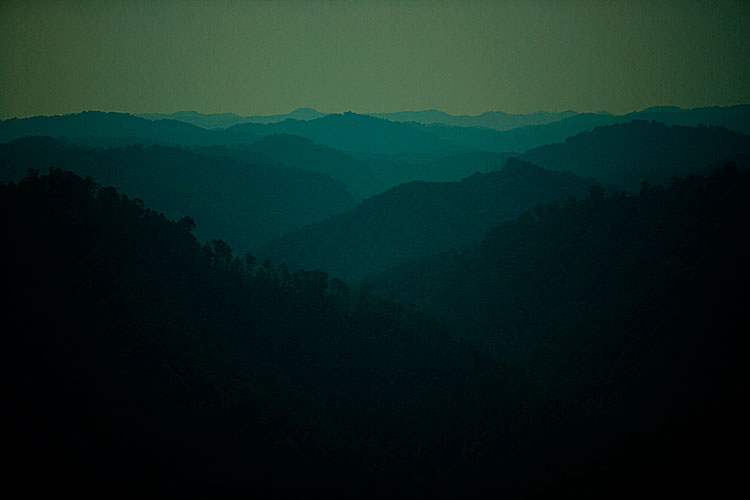 Blue Ridge Mountains ? Appalachia : Near Logan : West Virginia