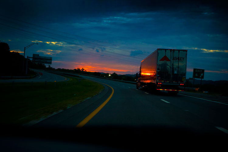 Sunset Truck : Road Trip to the big ATL : West Virginia