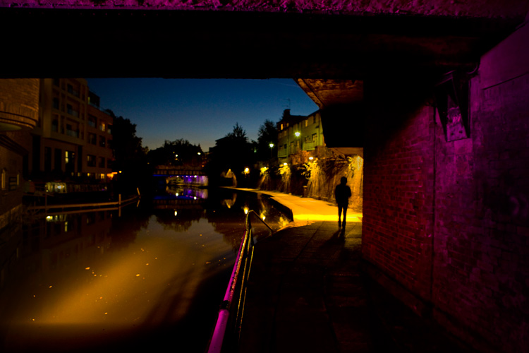 Regents Canal Camden : Pretty in Pink : London UK