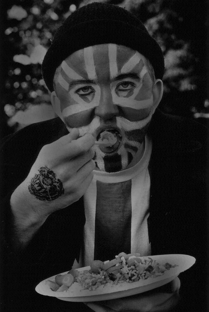 Union Jack Face : Film Set : London