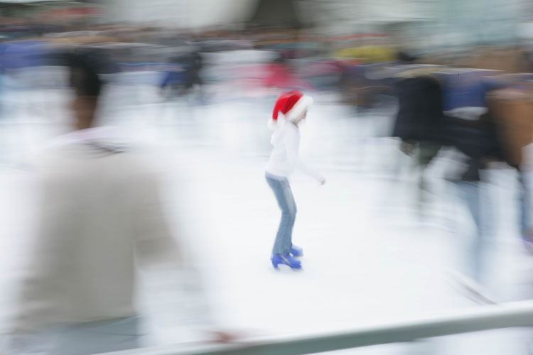 Santa Christmas Skating : Bryant Park : New York City