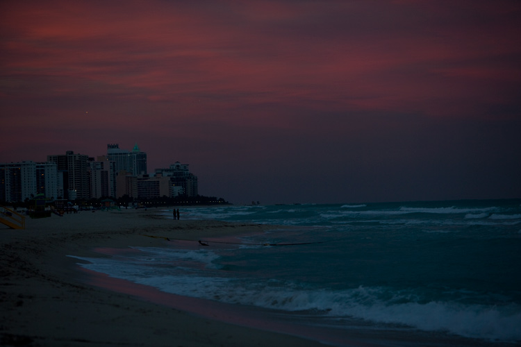 It might be Freezing cold but its still Miami : South Beach : Florida