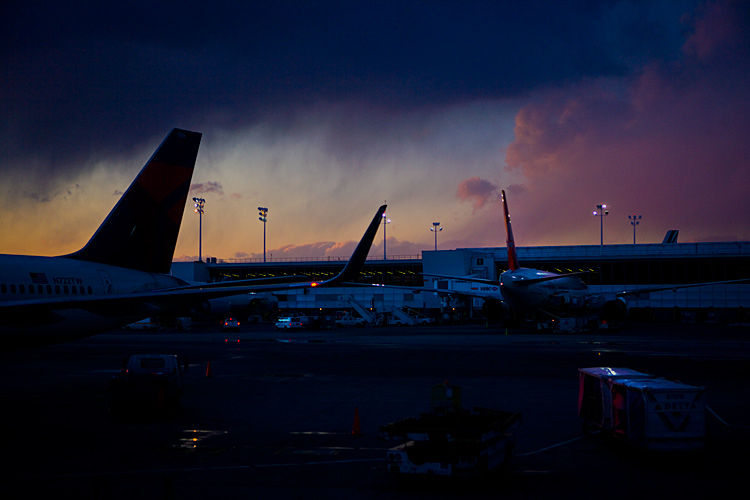 Dark Clouds at JFK : New York : USA