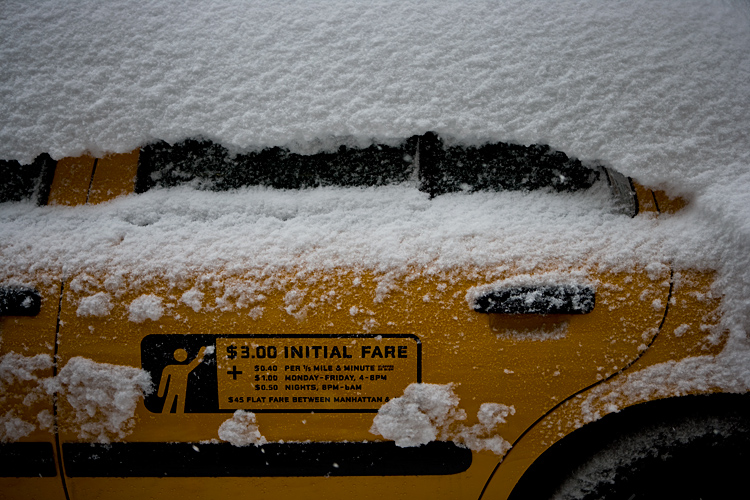 Sleeping Taxi covered by Snow : NYC : USA