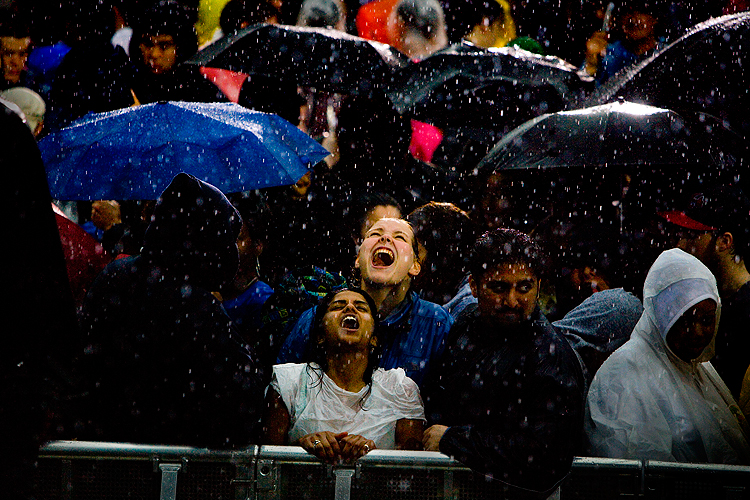 Rain at Earthday in DC : Washington : USA