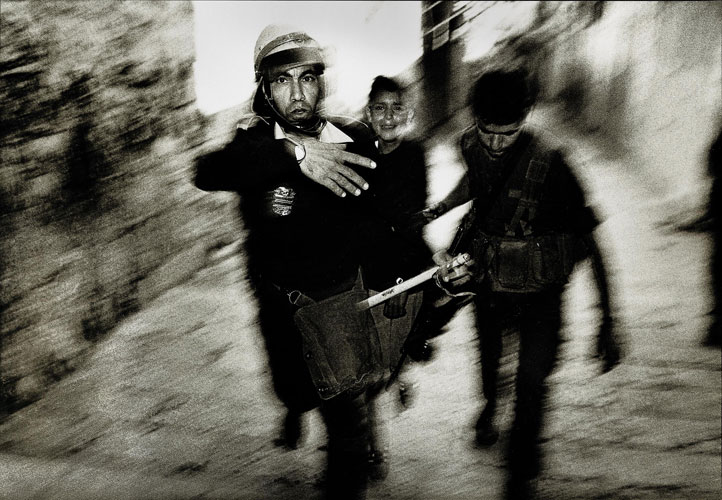 Arrested Crying Palestinian Boy : Jerusalem Old City : Israel