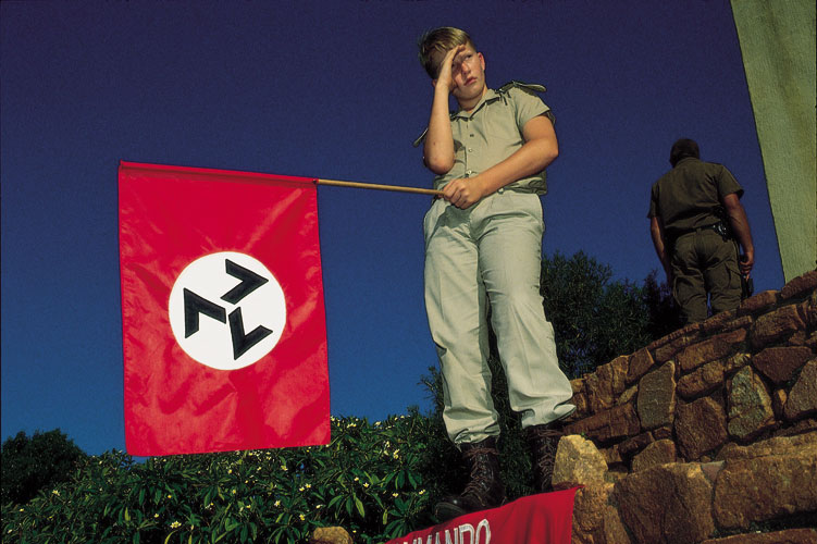 Eugene Terreblanche is Dead : AWB Flag : South Africa