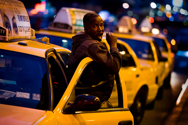 Yawning Cab Driver : Port Authority Bus Terminal : NYC