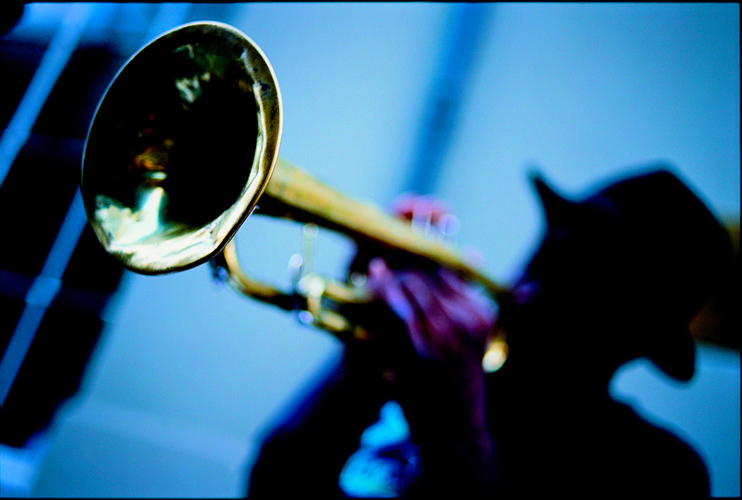 Jazz Trumpet in the Street : Close to Bourbon St : New Orleans