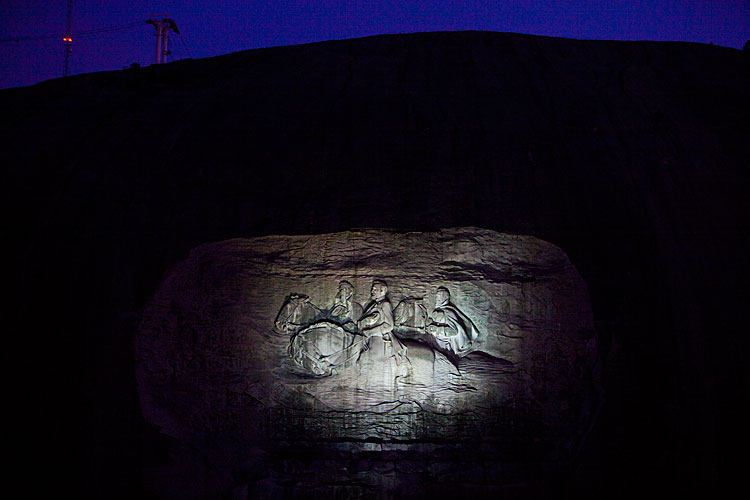Ghosts of the Past in Stone : Monument to the Confederate Leaders : Stone Mountain GA
