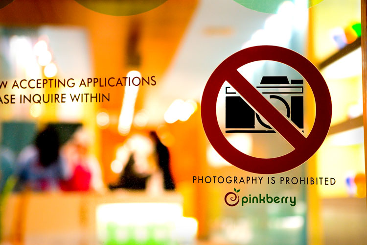 No Photography : Therefore Do Not Buy Ice Cream at PinkBerry : NYC
