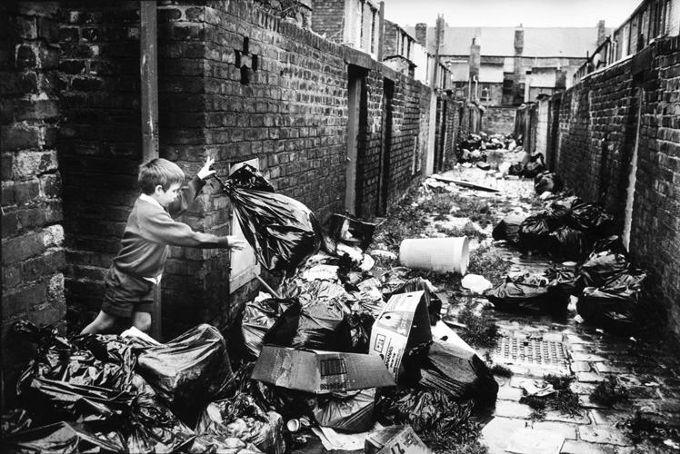 The rubbish piles up in Liverpool, England