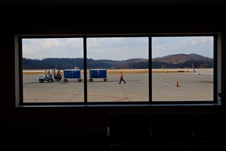 Looking Out on the Airport at the Edge of the World : Yeager Charleston : West Virginia