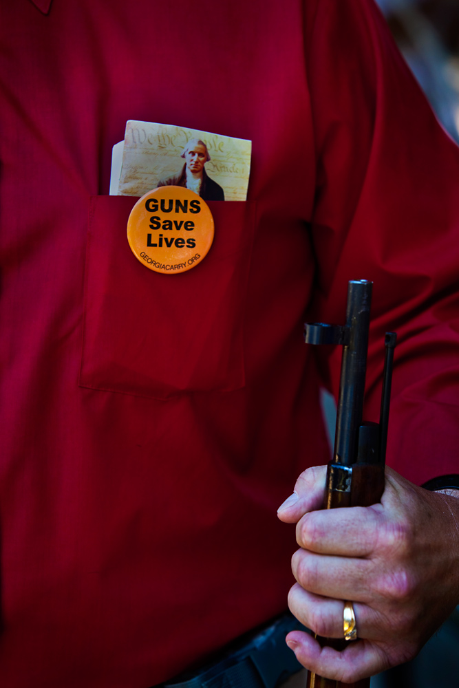Guns Save Lives.....  Well Except..... : Tea Party Event Conyers : GA