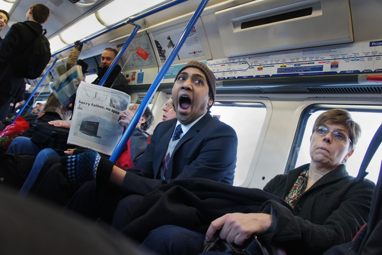 The NEX5 Yawn : The Tube from Heathrow : London