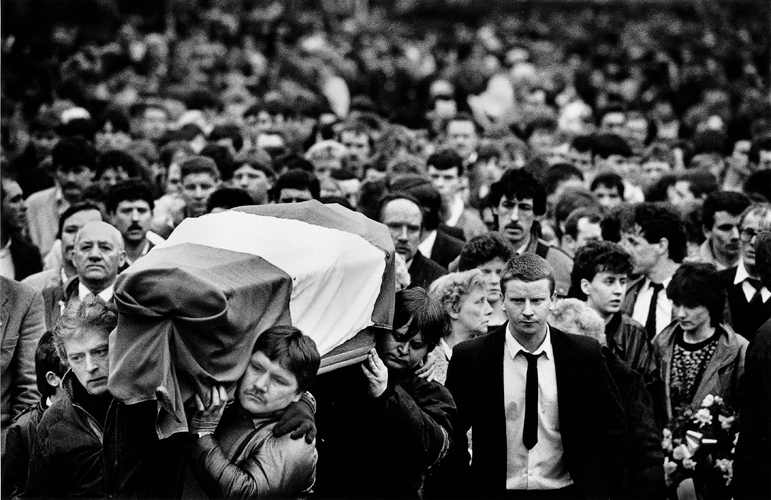 Republican Funeral The Troubles : Belfast : Northern Ireland UK