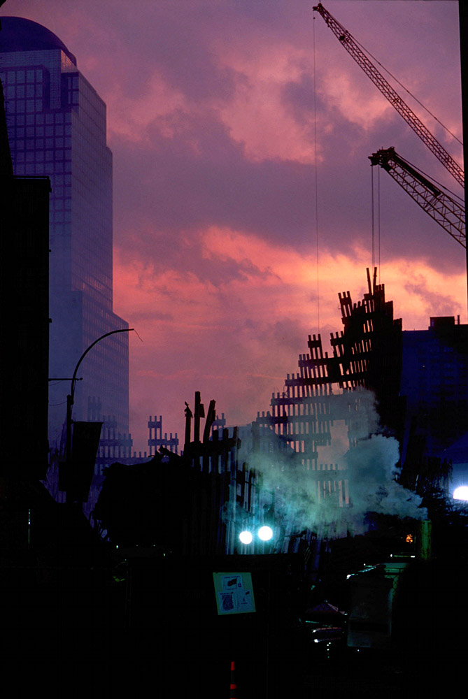 Empty Sky : Twin Towers Remains After the September 11th Attack : New York City