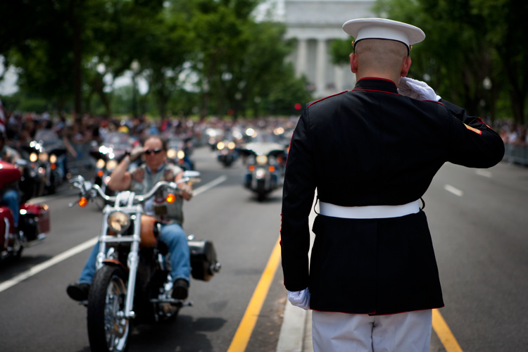 Salute The Thunder : Rolling Thunder Veterans : National Mall DC