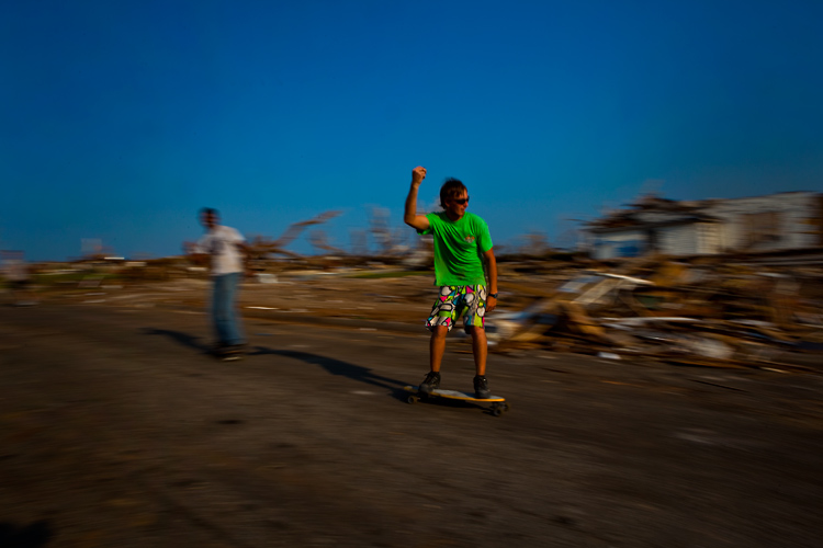 Skater Boys in the Tornado Zone : Joplin  : Missouri