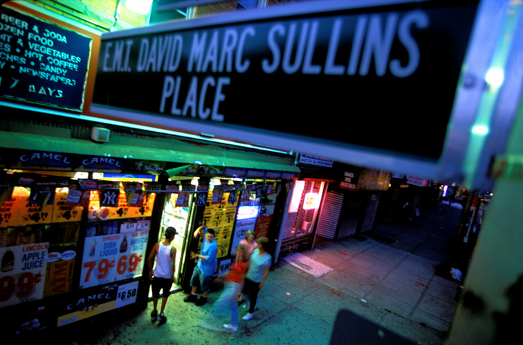 Signs Of Life 9-11 : Streets renamed to honor heroes : EMT David Marc Sullins  : NYC