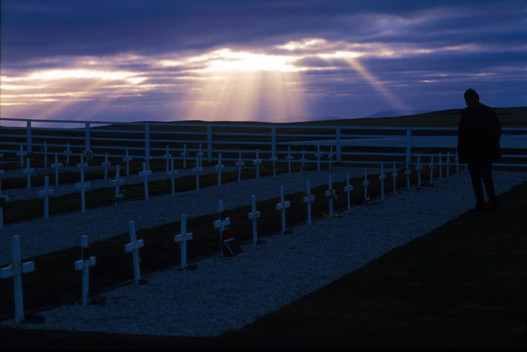 Paying Respects to your Fallen Enemy  : Blue Beach Cemetery : The Falkland Islands / Las Malvinas