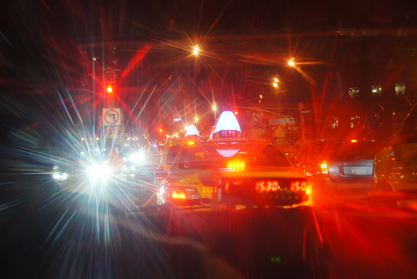 Heading for the Bright Lights of Brooklyn : Taxi : NYC