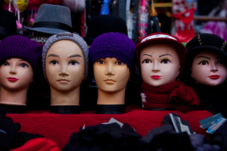 The Wooly Hat Heads : Elephant and Castle Market :London