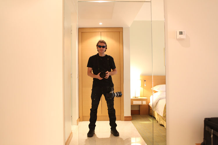 Jez Coulson as The Man in Black : Radisson Blu Anchorage Hotel : Lagos Nigeria