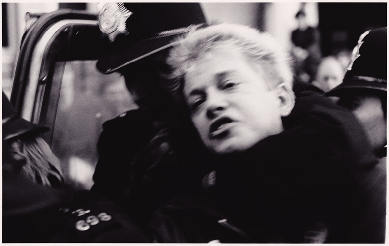 Protestor is dragged away : Victory To The Miners Demo 84/85 : London