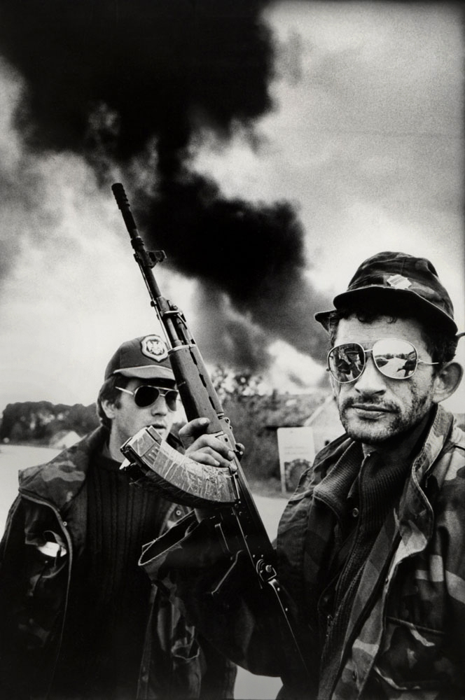 Serb Fighters : War Photography is Abuse Discuss : Bosnia