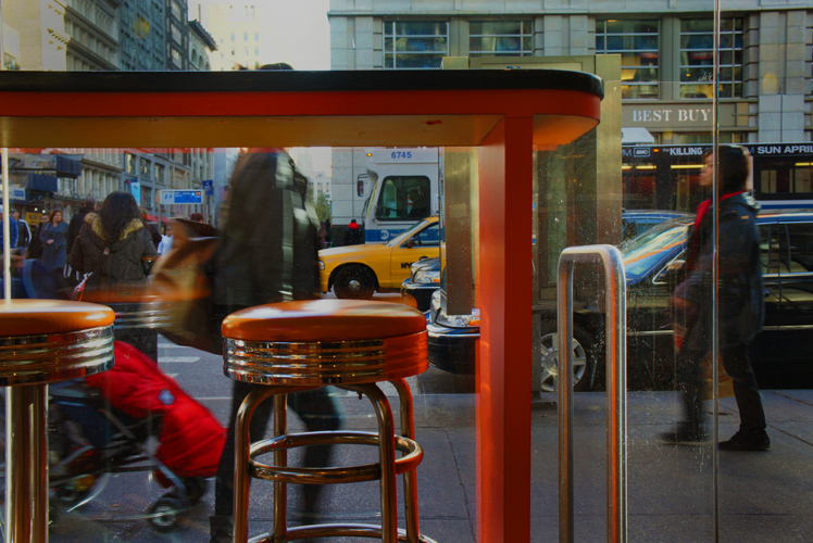 Salad days with Taxi : 23rd and 7th : New York City