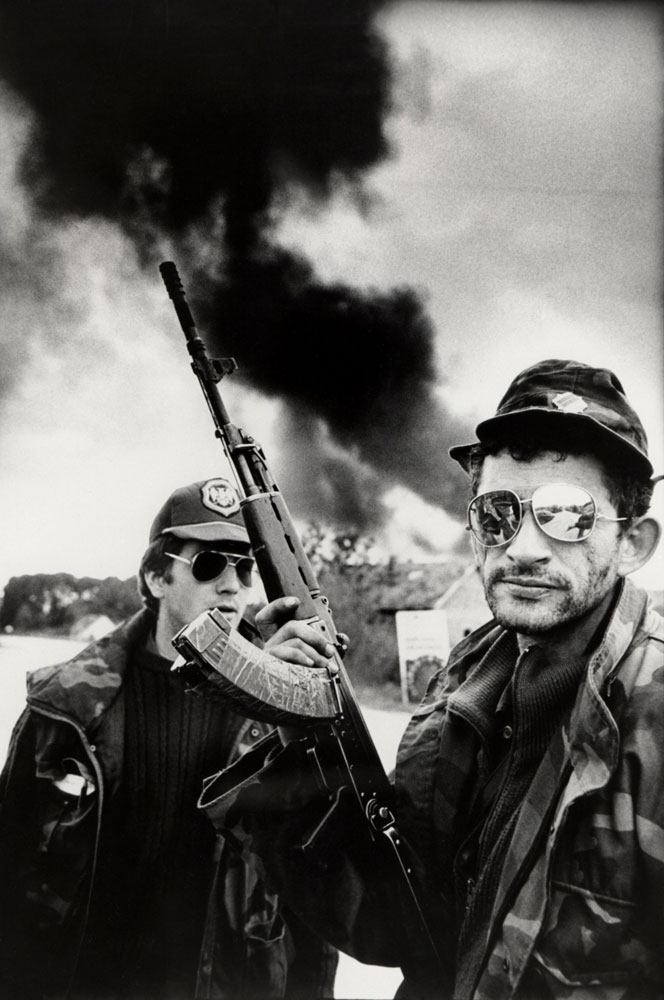 A Celebration of the Life Of Marie Colvin : Bosnian Serb Fighters during the Civil War : Bosnia