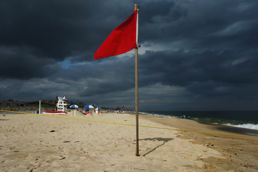 Red Flag : The Hamptons NY : USA