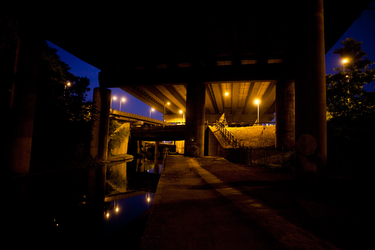 The Darkness Under The Great Gate : Spaghetti Junction Birmingham : UK