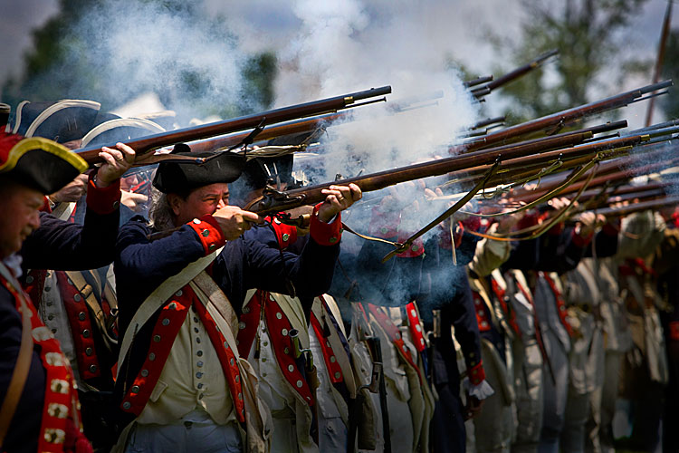 The Right to Bear Arms Goes Back a Long Way : Reenactment of War of Independence