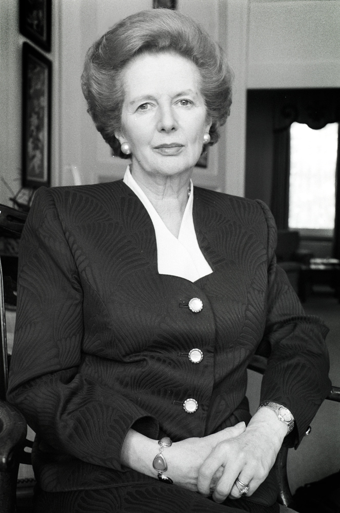 Margaret Thatcher at the End of her Reign : Westminster : London