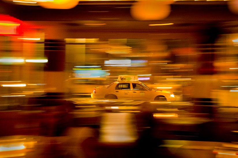 Speeding Taxi Blur : Meat Packing District : New York City