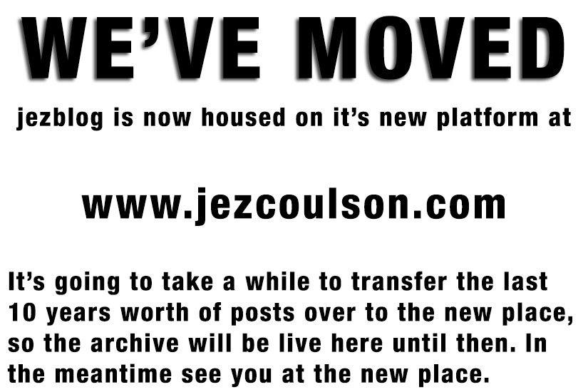 We've moved... jezcoulson.com