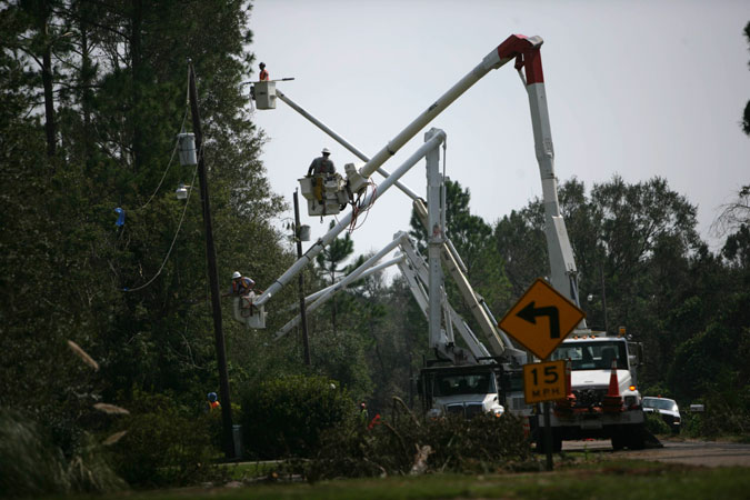 Restoring power on the Gulf coast