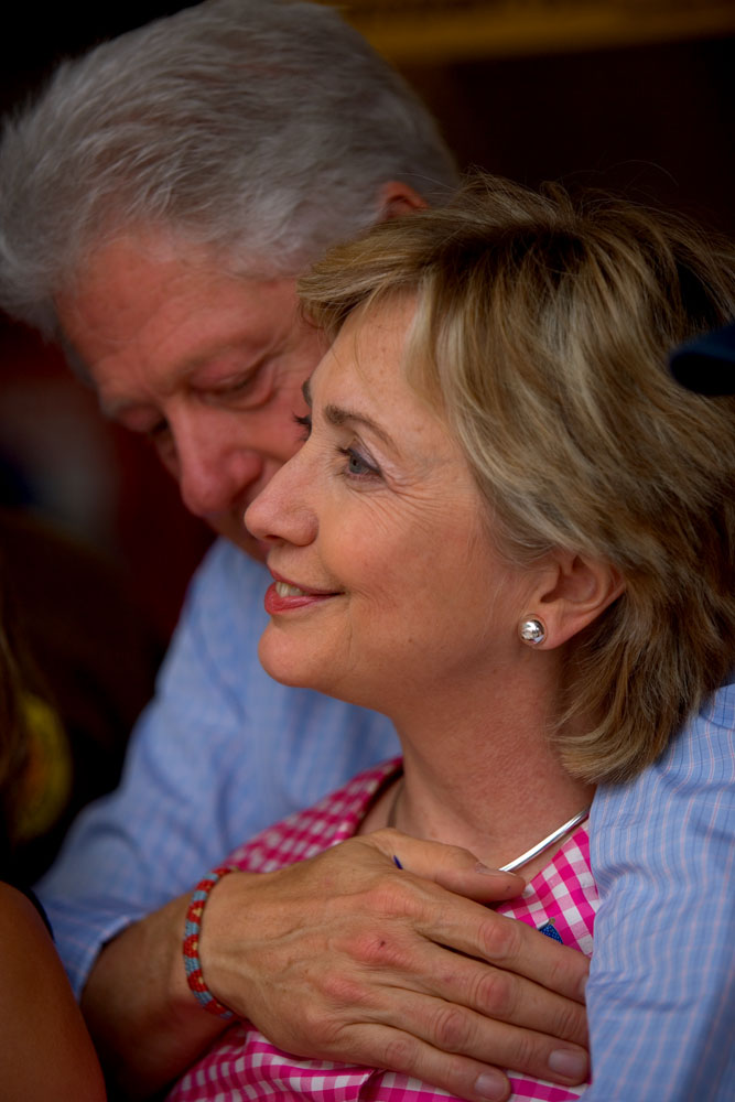 Senator Hillary Rodham Clinton and husband Bill